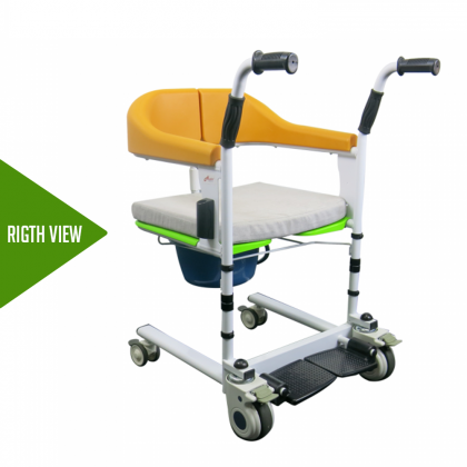 HOPKIN TRANSFER TROLLEY WITH COMMODE